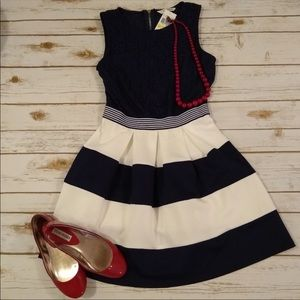 BNWT speechless navy blue skater dress